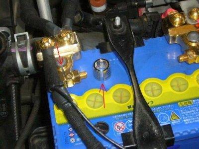 画像2: バッテリーターミナルB端子アダプターTAD-2/B(JIS)ポスト⇒D(DIN)サイズへ変換