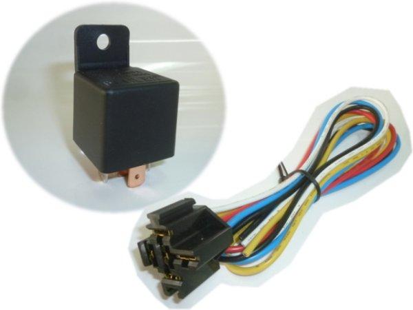 """画像1: 高性能""""5極リレーBU12V(40A/60A)配線付きソケットセット!ノイズ除去回路内臓 (1)"""