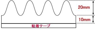 画像2: プロファイル吸音ウレタンフォームSS1030(粘着付き30mm厚)/4枚組み