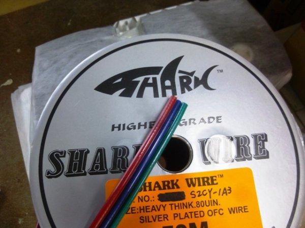画像1: SHARKWIRE/80μ銀コーティングRCAケーブル DVDに最適! (1)