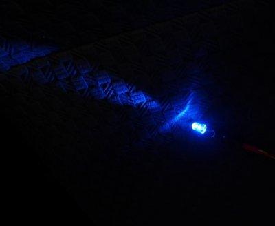 画像2: 青色点滅LEDライト 5φ 12V車用 リレー付キット