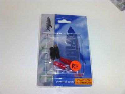 画像1: SHARKWIRE 最高級ロジウムメッキ!スピーカーファストン端子SF-01/M-RH(16ゲージ用 Mサイズ)